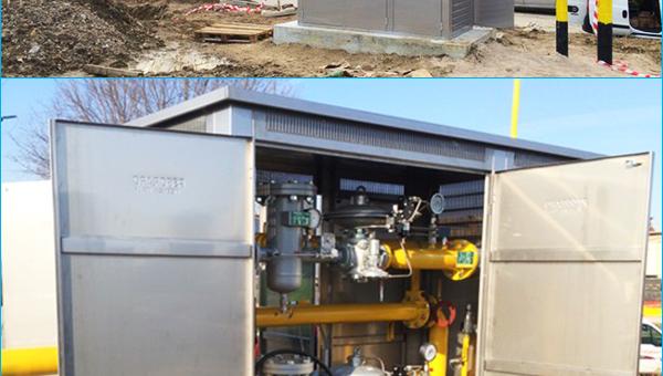 Case History Italia: Cabina Remi di filtraggio, misura e riduzione per gas metano
