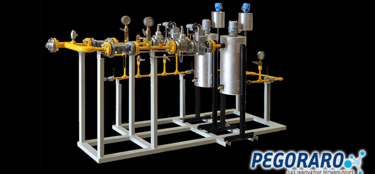 Pressure reducing station for compressed natural gas CNG